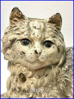 Antique Hubley Cast Iron Cat Doorstop with Original Paint