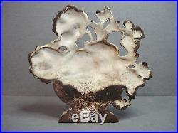 Antique Hubley Cast Iron Doorstop Pansy Bowl No. 256
