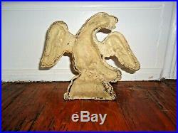 Antique Hubley Cast Iron Eagle Doorstop Wings Spread