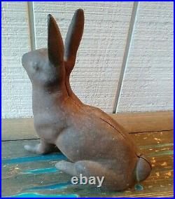 Antique Hubley Cast Iron Rabbit Doorstop, 15 pound 12, VGC with Original Patina