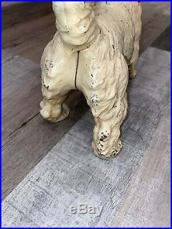 Antique Hubley Cast Iron Sealyham Terrier Dog Art Statue Home Garden Door Stop