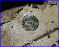 Antique Hubley English Setter Door Stop Rare Original Label Very Nice