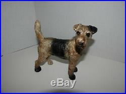 Antique Hubley Fox Terrier Cast Iron Door Stop