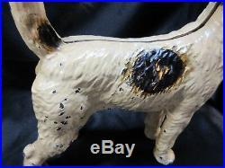 Antique Hubley Fox Terrier Dog Cast Iron Doorstop 9 X 9