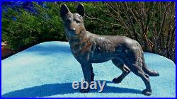 Antique Hubley German Shepherd Dog Cast Iron Doorstop Statue