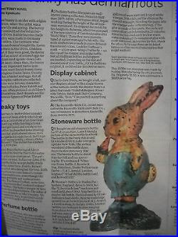 Antique Hubley Large Cast Iron Rabbit Bunny Primitive Door Stop
