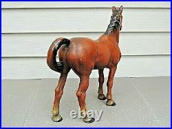 Antique Hubley Large Western Cast Iron Horse Doorstop Original Paint Excellent+