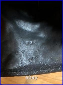 Antique Hubley Persian Cat Gray Pink Bow Fireside #335 Cast Iron Door Stop