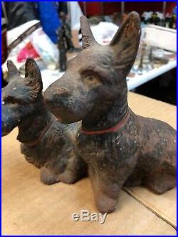 Antique Hubley Scottish Terrier Scottie Dog Cast Iron Doorstop
