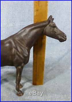 Antique Hubley Thoroghbred Horse #476 Cast Iron Door Stop