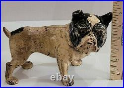Antique Hubley Toy Co USA Cast Iron English Bulldog Art Statue Dog Door Doorstop