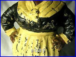 Antique Hubley Toy Co. USA Lg. Americana Lady Cast Iron Art Statue Door Doorstop