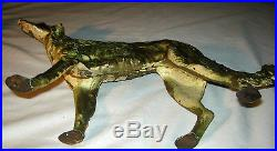 Antique Hubley Whipet Borzoi Greyhound Wolf Hound Cast Iron Doorstop Statue Dog