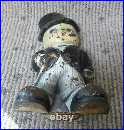 Antique Judd Company No. 1262 Boy in Tuxedo Cast Iron Doorstop
