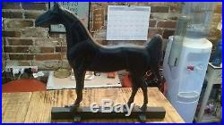 Antique Kings Genius Saddlebred Kentucky Saddle Horse ASB Cast Iron Doorstop
