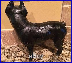 Antique Large 10.5 Hurley Cast-Iron Boston Bull Terrier Dog Doorstop