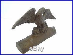 Antique Old Metal Cast Iron American Eagle Bust Decorative Doorstop Door Stop