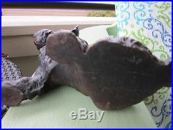 Antique Original Hubley Black Cast Iron Scottie Dog Art Statue Doorstop