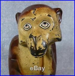 Antique Original Hubley Full Figure Monkey Cast Iron Door Stop
