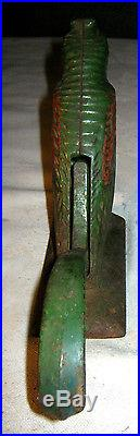 Antique Primitive Cast Iron Parrot Bird Nutcracker Statue Doorstop Weight Tool