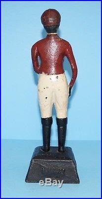 Antique Rare Black Jockey Cast Iron Doorstop B. B. Butt Baltimore, Md. 1900-1920