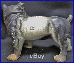 Antique & Rare Cast Iron Doorstop Hubley English Bulldog Original Paint
