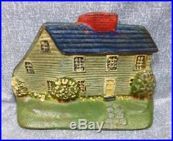 Antique & Rare Cast Iron SaltBox House Doorstop