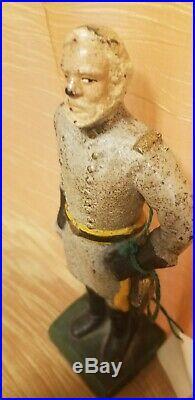 Antique Robert E. Lee Solid Heavy Cast Iron Figural Door Stop CIVIL War General