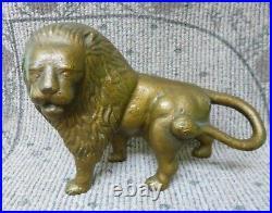 Antique Solid Casting Lion Full Figure Cast Iron Doorstop