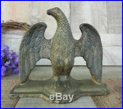 Antique Spread Winged EAGLE Cast Iron Doorstop Decorative Art Statue Americana
