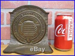 Antique UNIVERSITY of PENNSYLVANIA Cast Iron Doorstop Bookend Art Statue CS&C Co