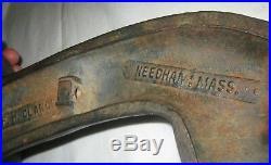 Antique USA Country Primitive Ma Cast Iron Goose Doorstop Hunting Gun Bird Decoy