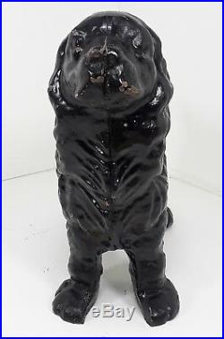 Antique Vtg Hubley Cast Iron Cocker Spaniel Guard Dog Doorstop Art Statue Large