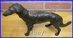 BORZOI WOLFHOUND Antique Cast Iron Dog Doorstop Decorative Art Statue