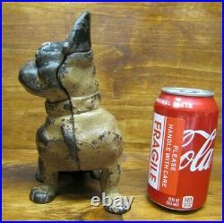 BULLDOG PUP Dog Sitting Antique Cast Iron Doorstop Decorative Art Statue