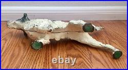 Best! Antique Hubley Sport Gun Hunting Dog Doorstop Cast Iron Home Door Art