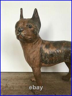 Best Hubley Cast Iron French Bulldog Boston Terrier Boxer Dog Door Stop