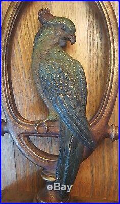 Bradley & Hubbard Large Cast Iron Parrot Doorstop C1900