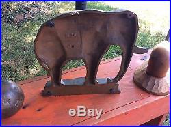 Bradley & Hubbard original old lg Elephant Door Stop Doorstop
