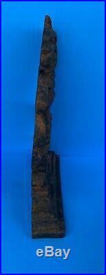 C. 1795 Bookend Lion Antique Cast Iron Door Stop Collectible Folk Art Primitive