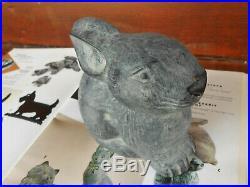 Cast Iron Baby Bunny Rabbit Doorstop Virginia Metalcrafters Original Paint Clean
