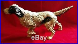 Cast Iron Doorstop Hubley 347 English Irish Setter Hunting Pointer Dog Door Stop