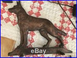 Cast Iron German Shepherd Doorstop Davison Co large figural dog WORLD RADIO