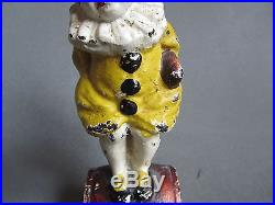 Cast Iron Little Girl On Barrel In Clown Outfit Doorstop Book Example