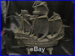 Cast Iron Pirate Sailing Ship Doorstop