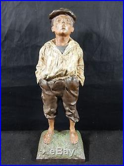 Cast Iron Whistling Jim Doorstop By Bradley and Hubbard