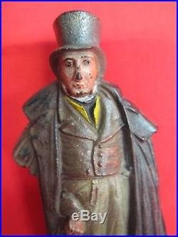 Charles Dickens English Gentlman Bradley Hubbard Cast Iron Bookend or Doorstop