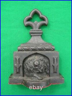 Coalbrookdale (possibly), door stop, cast iron, about 1860