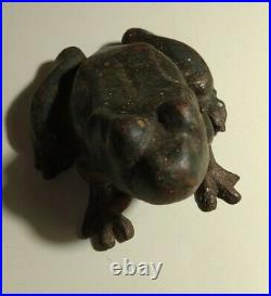 Collectible Antique Hubley Frog Toad Cast Iron Doorstop 6 Original Solid Used