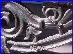 DOUBLE rare BOOT SCRAPER equestrian Texas ADIRONDACK doorstop VICTORIAN 1800's